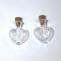 Cute Heart Glass Vials