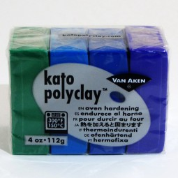 Kato Polyclay 4 Color Sample Set Cool