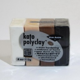 Kato Polyclay 4 Farben Set Neutral