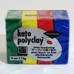 Kato Polyclay 4 Color Sample Set Primary