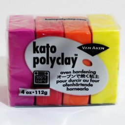 Kato Polyclay 4 Color Sample Set Warm