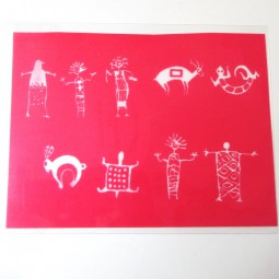 Silk Screen Native Figures