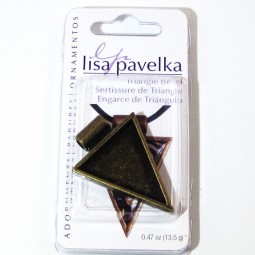Lisa Pavelka Triangle Bezel Antique Gold