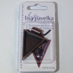 Lisa Pavelka Triangle Bezel Antique Copper
