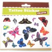 Tattoo Sticker Colorful Butterflies