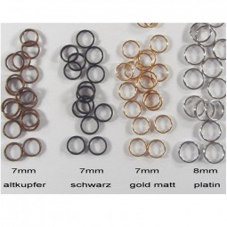 Split rings (10) gold colored
